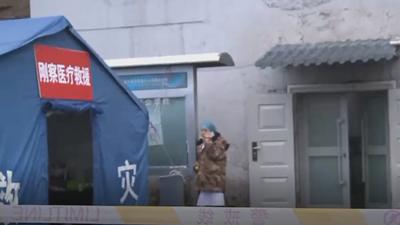 青海柴達爾煤礦事故致19人被(bei)困 直bei)ji)救援現場